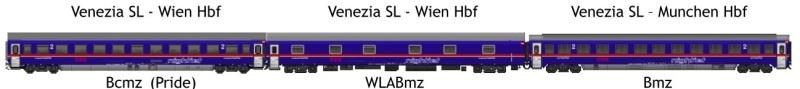 NIGHTJET Set 1 - 3tlg. EN236/237 Venezia-Munich, DC, Spur H0