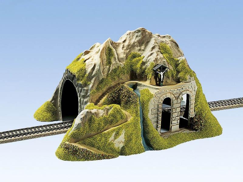 Tunnel 1-gleisig, gerade, 34 x 26 cm Spur H0