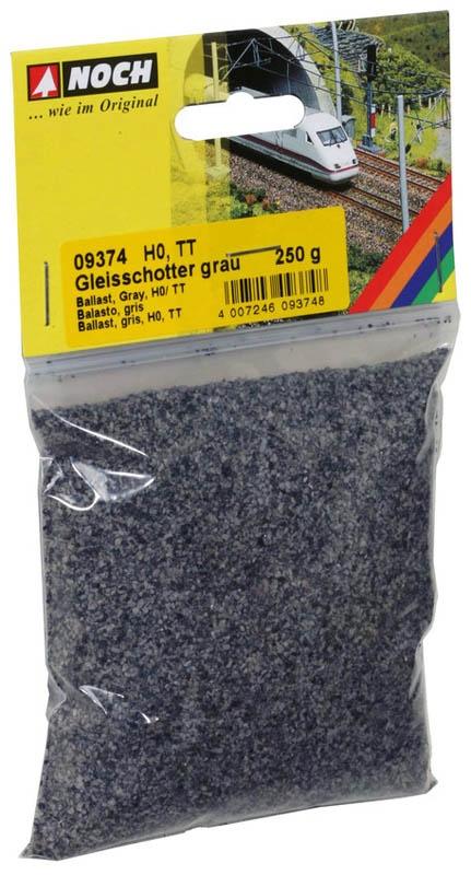 Gleisschotter, grau, 250 g, Spur H0, TT