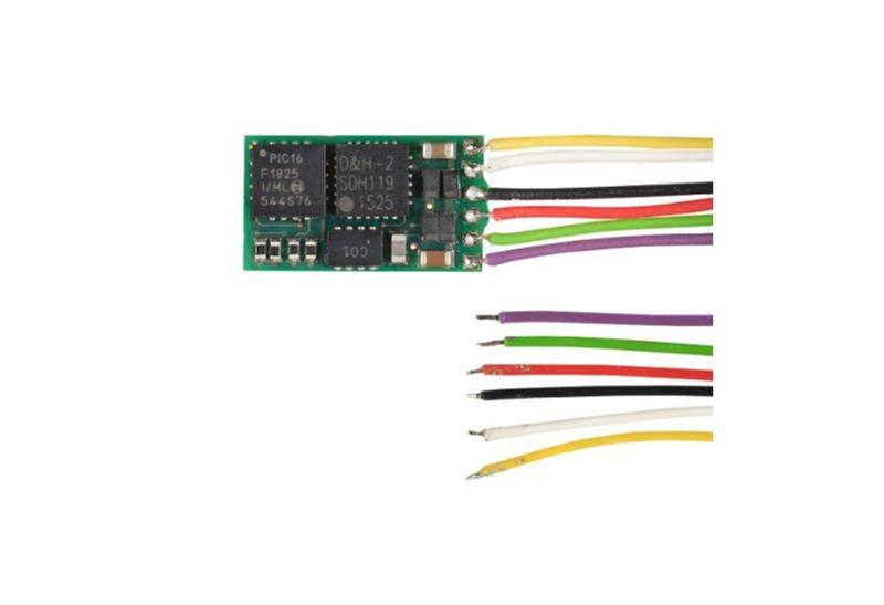 Mikro-Lokdecoder FH05B mit 6 Anschlusslitzen,