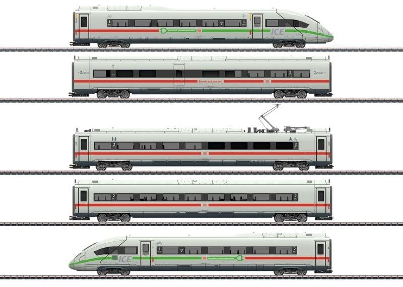 Triebwagenzug ICE 4 BR 412/812 grüne Streifen, Sound mfx+ H0