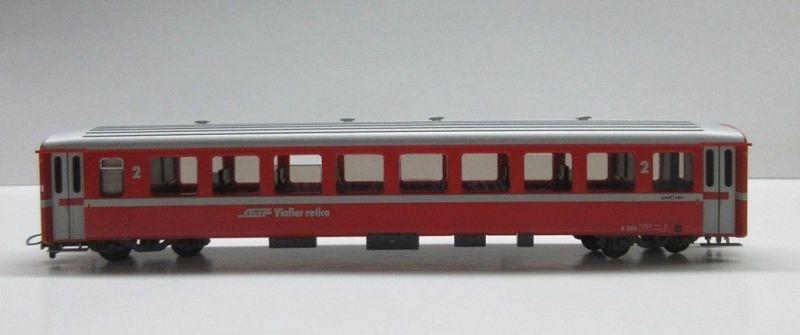 Leichtmetallwagen B 2315 neurot der RhB, Spur H0m