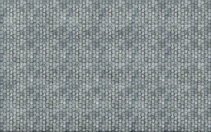 Kopfsteinpflaster 31 x 21 cm, Spur H0