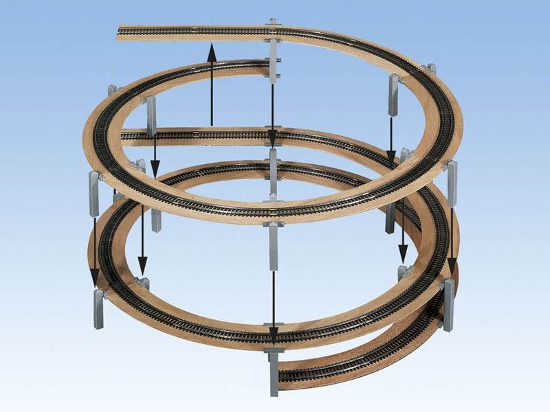 LAGGIES Gleiswendel-Komplettbausatz, Aufbaukreis, Spur H0