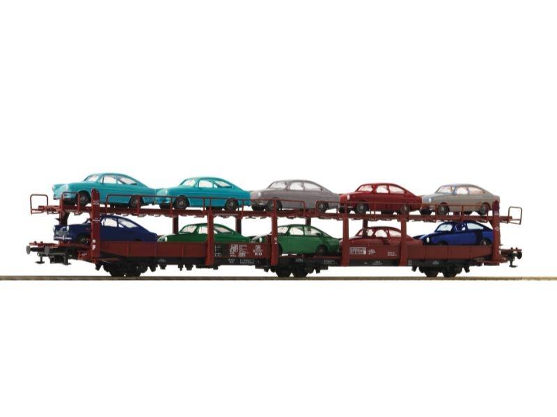 Autotransportwagen Bauart Laes 543 der DB, Epoche IV,Spur H0