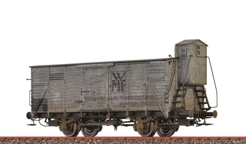 Gedeckter Güterwagen G10 WMF der DB, patiniert, DC, H0