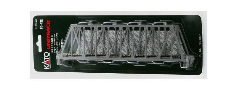 Kastenbrücke grau mit Gleis, 1-gleisig, 248mm, Spur N