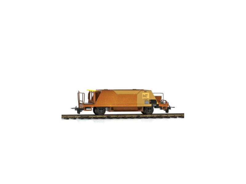 Schotterwagen Xc 9425 der RhB gelb/rostig, Spur H0m