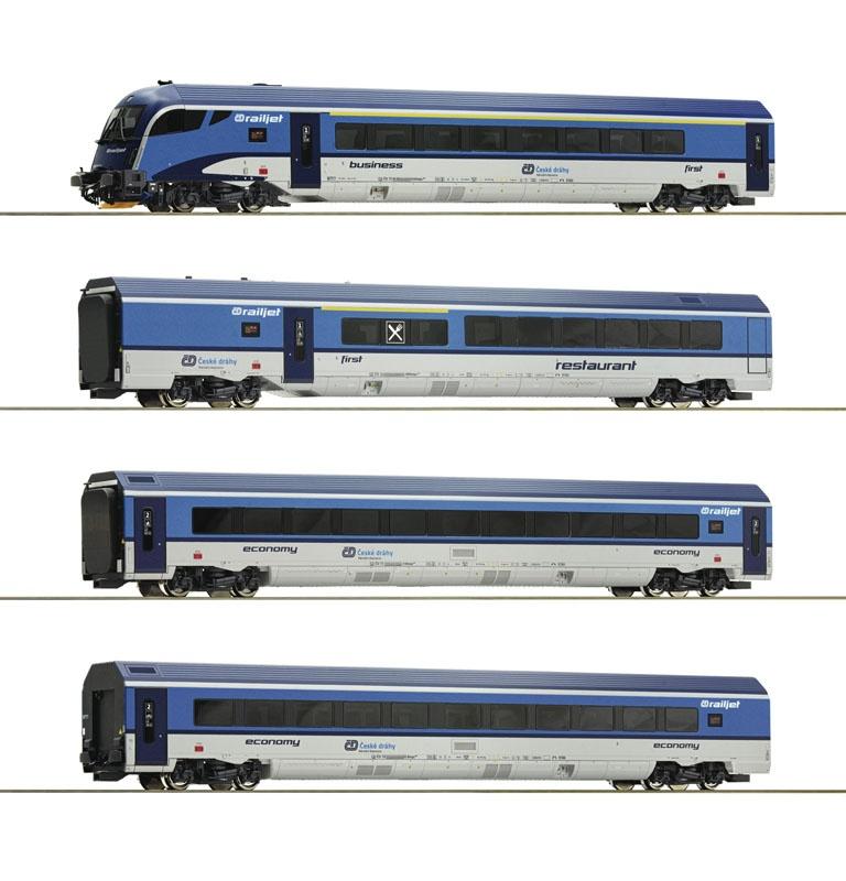 4er Set Railjet der CD, DC, Spur H0