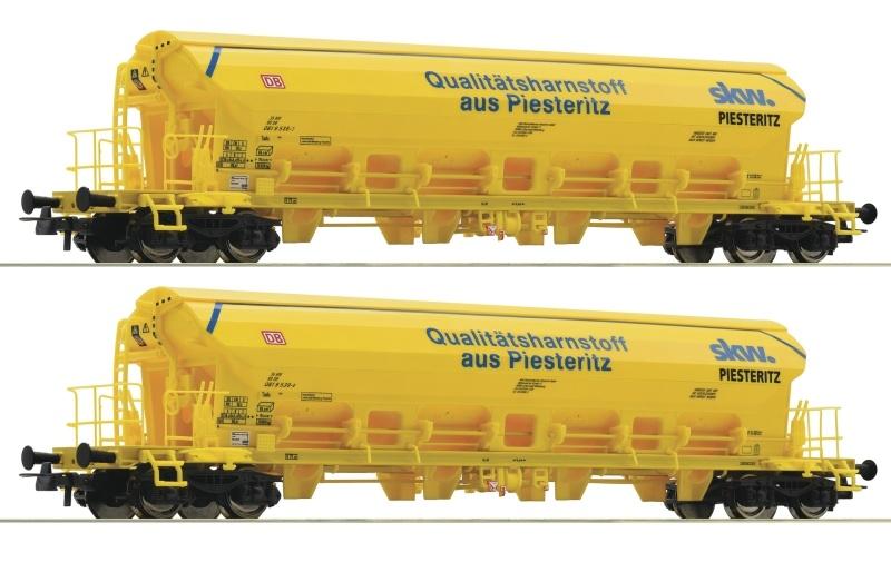2-tlg. Set: Schwenkdachwagen der DB AG, DC, Spur H0