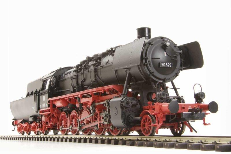 Dampflok BR50 629 der DB, mit Wannentender, Ep.III, Spur 0
