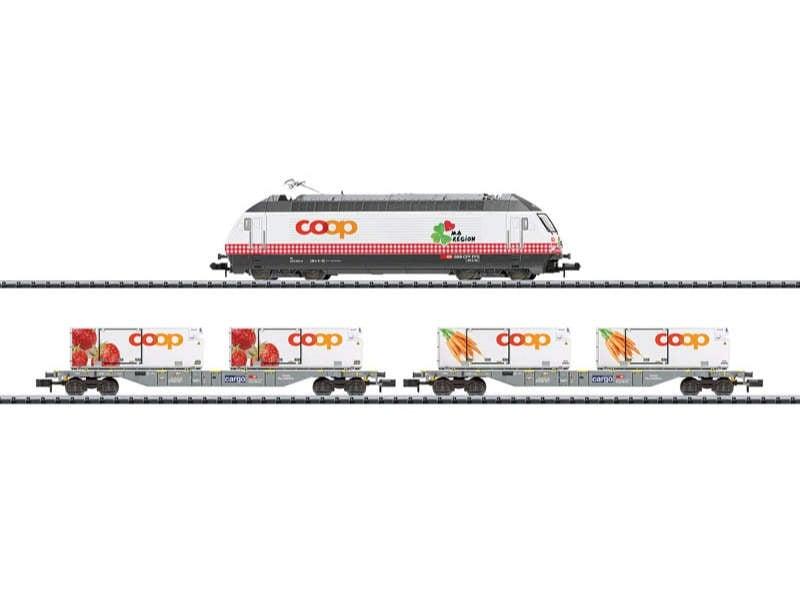 Zug-Set Lebensmittel-Kühltransport SBB/CFF/FFS Spur N