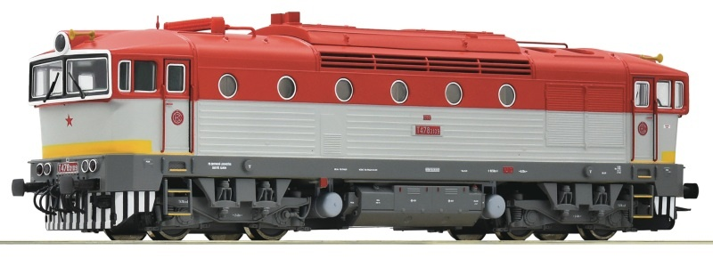 Diesellokomotive T 478.3109 der ZSSK, Sound, DC, Spur H0