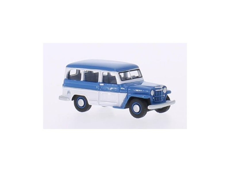 Jeep Willys Station Wagon blau, weiss, 1954, H0