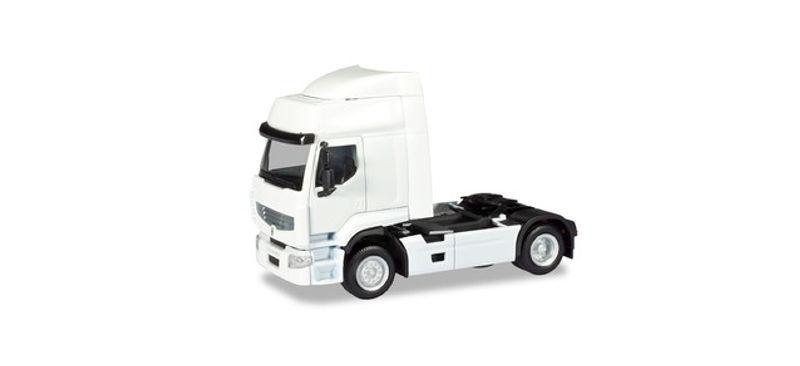 MiniKit: Renault Premium Zugmaschine weiß, 1:87 / H0