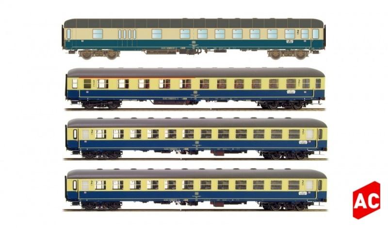 4tlg. Set 1 München-Berlin BDm/Abm/2xBm Ostsee Express AC H0