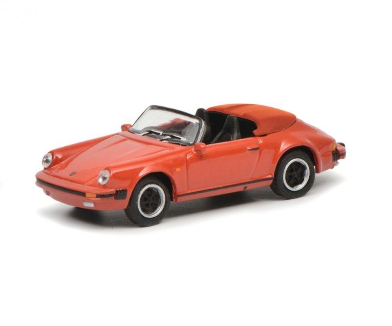 Porsche 911 Carrera 3.2 Speedster, rot, 1:87 / Spur H0
