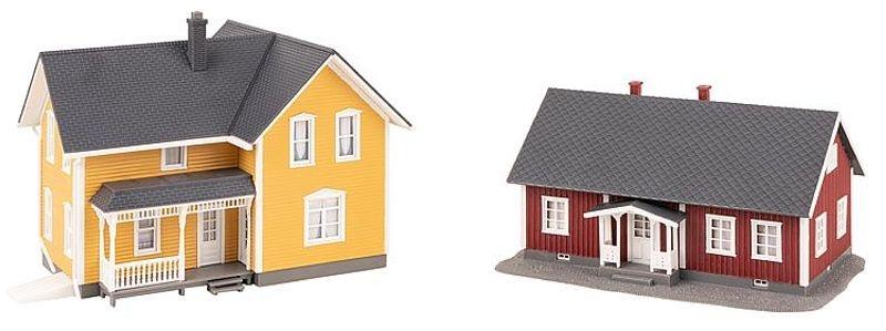 2 Schwedenhäuser, Bausatz, Spur H0