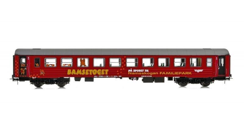 Topline Personenwagen BC3 21238 Bamsetoget der NSB,rot, H0