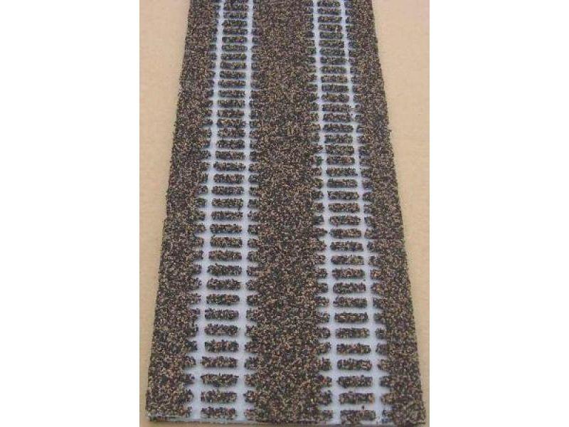 Gleisbettung für Märklin H0 2205, 57 mm breit, 1 m lang