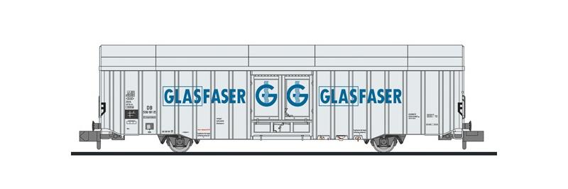 Großräumiger Güterwagen Hbbks der DB, Glasfaser, DC, N