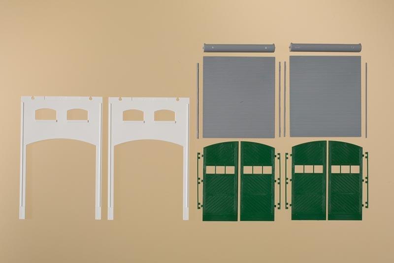Tore L grün Auhagen 80729 Wände 2391H geputzt Spur H0 Bausatz