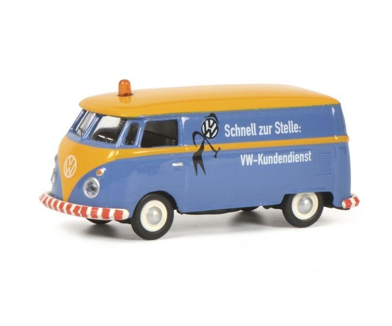 VW T1c Kastenwagen VW Kundendienst, blau, Spur H0 / 1:87
