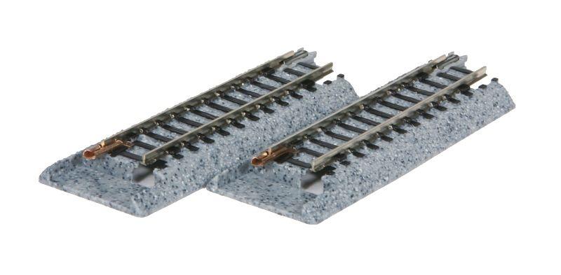 Übergangsgleis zu Roco, FLM, Minitrix, gerade 62 mm, Spur N