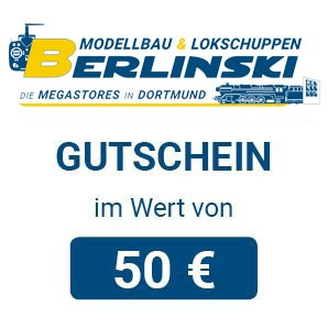Modellbau & Lokschuppen Berlinski Geschenkgutschein 50 EUR