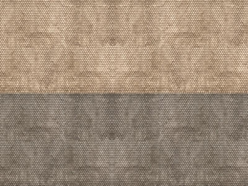 3D-Kartonplatte Biberschwanz, grau, Spur N