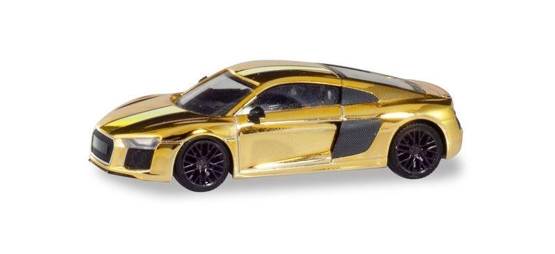 Audi R8 V10 Plus, goldglänzend, 1:87 / H0
