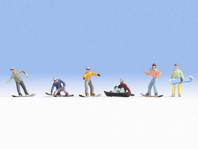 Snowboarder Figuren Spur H0