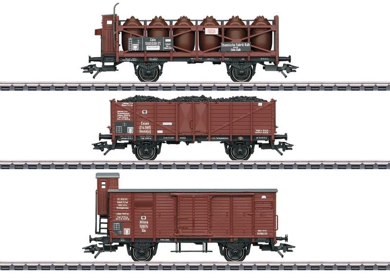 Güterwagen-Set zu T3 der KPEV, AC, Spur H0