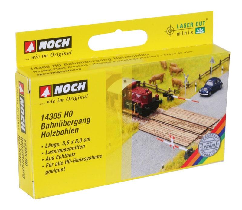 Bahnübergang Holzbohlen Laser-Cut minis Spur H0