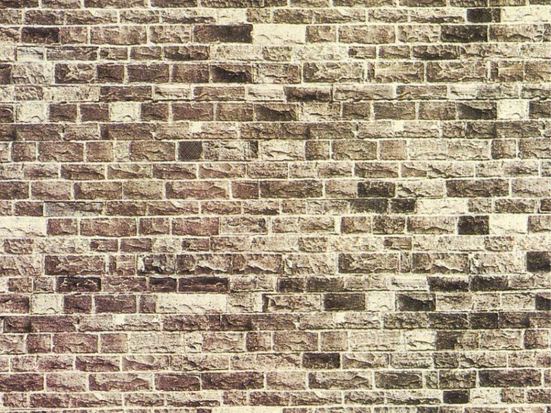 Mauerplatte Basalt, 64 x 15 cm Spur H0, TT