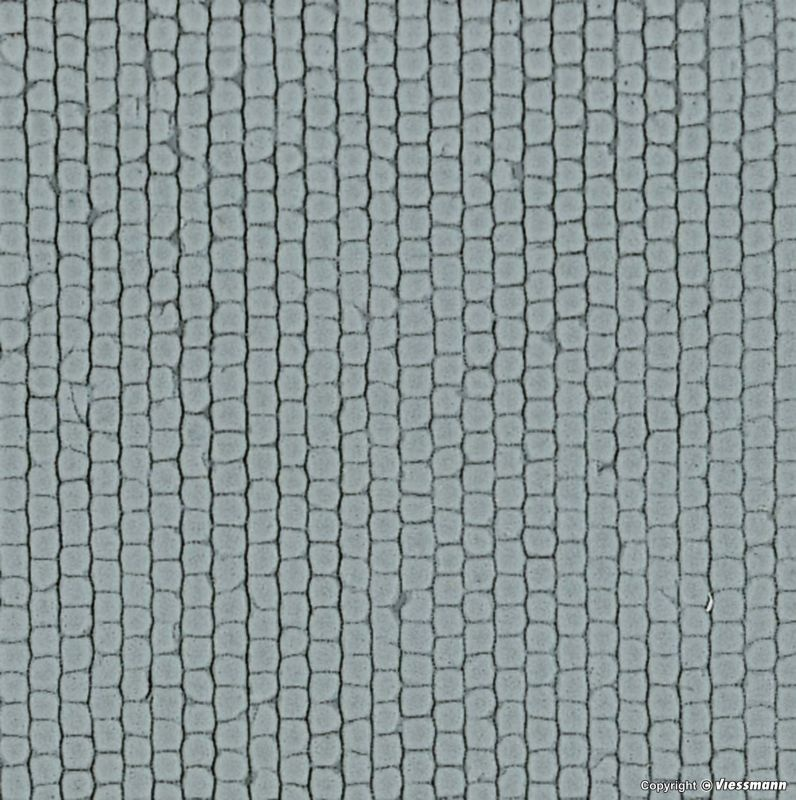 Kopfsteinpflasterplatte, L 20 x B 12 cm, Spur H0