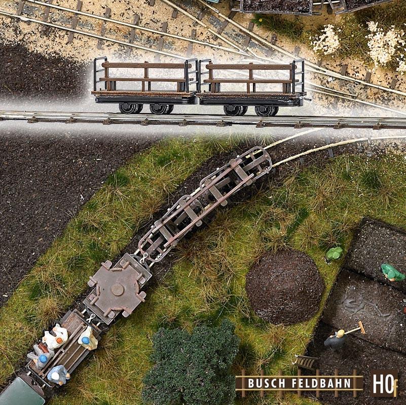 2 Mannschaftswagen, Spur H0f Feldbahn