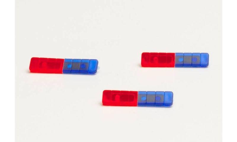 Nautech Spectra LED Warnlichtbalken, rot/blau, 6 Stk., 1:87