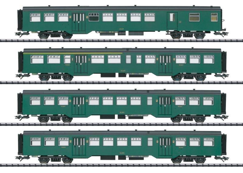 Personenwagen-Set M2 der SNCB, DC, Spur H0
