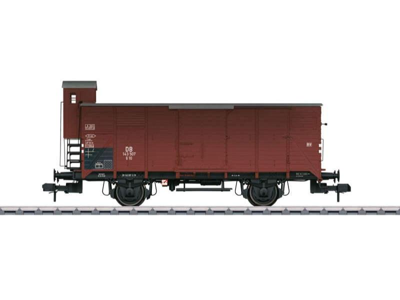 Gedeckter Güterwagen G 10 143 507 DB mit Bremserhaus Spur 1