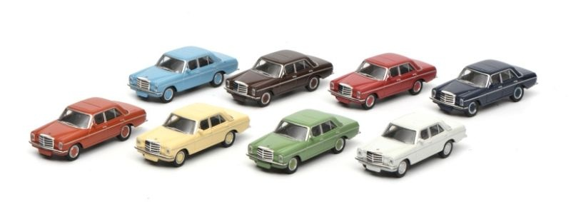 Mercedes /8 Set 8 Autos  1:87 / Spur H0