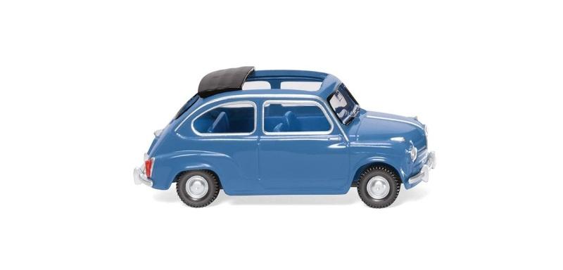 Fiat 600 - brillantblau, 1:87, H0