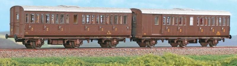 Set mit 3-achsigen Personenwagen der FS, Ep.III, DC, Spur H0