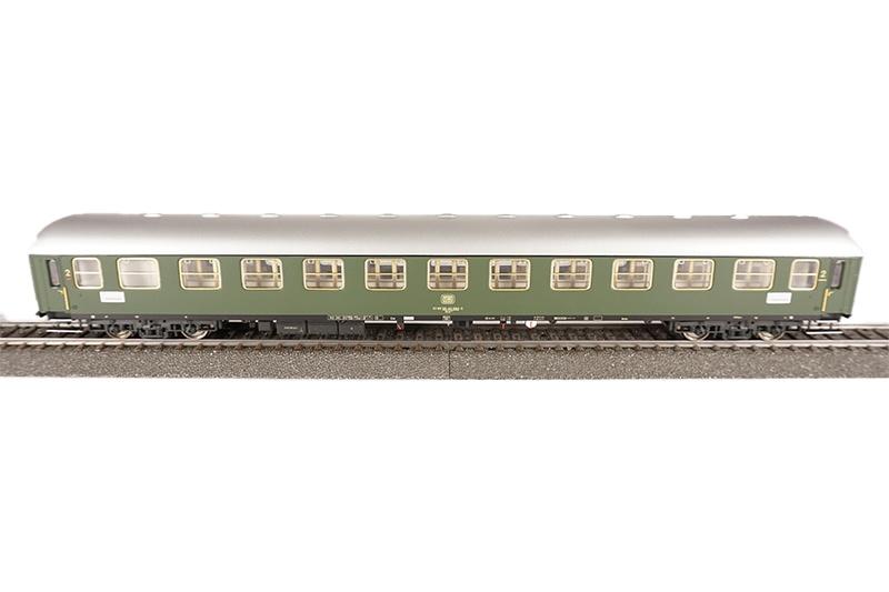 Liegewagen, Bauart 243, grün, DB, Epoche lV, DC, Spur H0