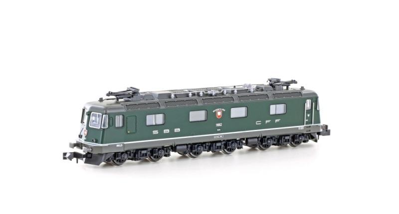 E-Lok Re 6/6 11662 der SBB, Ep.V-VI, grün, Spur N