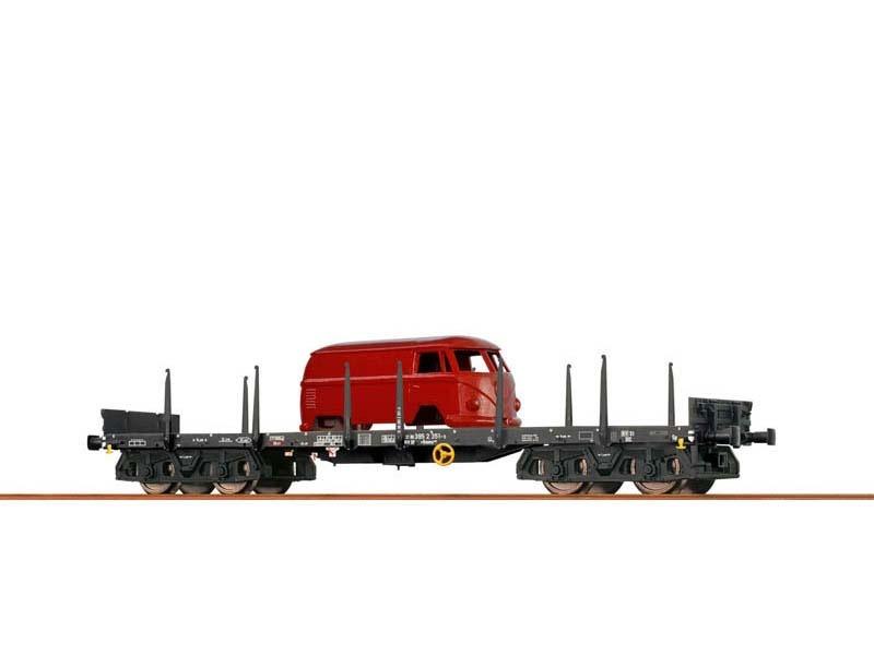Rungenwagen Rmms 663 der DB, IV, Draisine, Spur H0