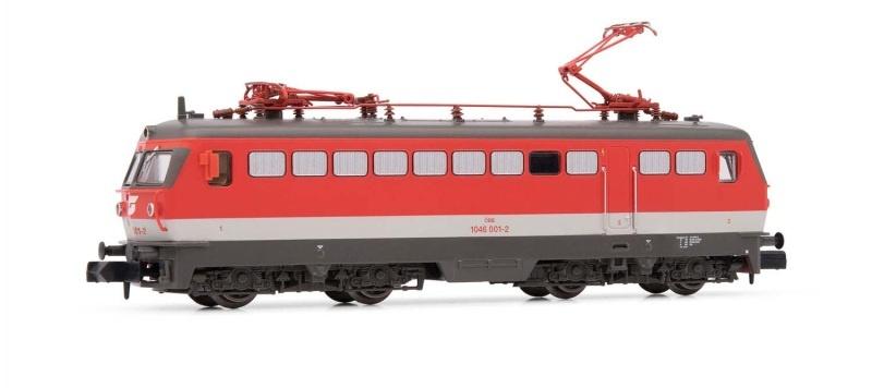 Elektrolokomotive Rh 1046 001-2 verkehrsrot der ÖBB, Spur N