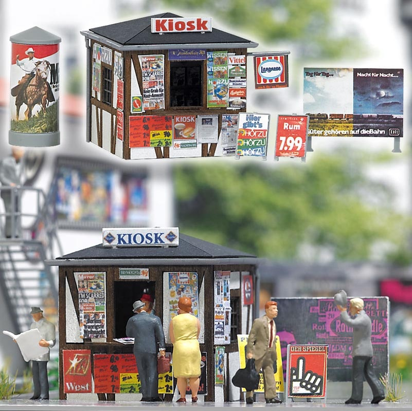 Kiosk Bausatz, Spur H0