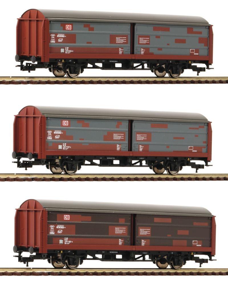 3-tlg.Set Schiebewandwagen Bauart Hbis 299 der DB AG, DC, H0