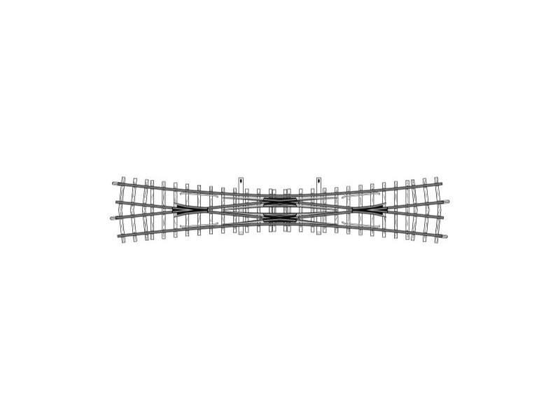 Doppelkreuzungsweiche, 12°, 220 mm, Spur H0m